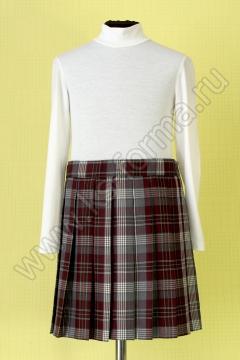 Юбка школьная для девочки модель №1 цвет 59-01 бордо