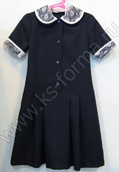 Платье модель №1-03 цвет синий однотонный
