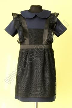 Фартук школьный модель №1 цвет черный