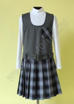 Сарафан для школы модель № 1 цвет 40-03 серый