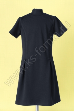 Платье модель №4-03 цвет синий однотонный