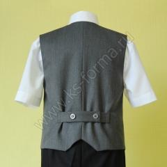 Жилет школьный для мальчика модель №1 цвет 59-01 серый