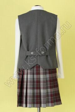 Жилет для девочки модель №1 цвет 59-01 серый