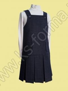 Школьный сарафан модель № 5, цвет синий